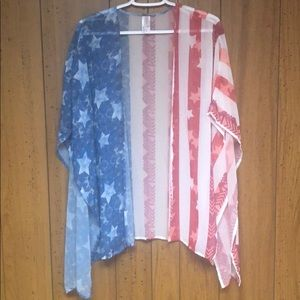 Perfect for Labor Day! Stars & stripes cover up
